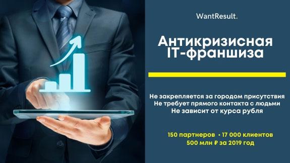 Франшиза WantResult - уникальная IT-технология